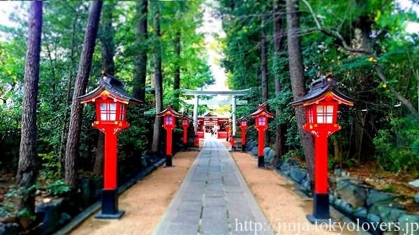 馬橋稲荷神社の参道