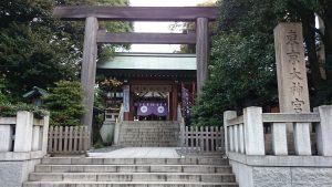 東京大神宮 鳥居と社号標