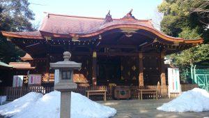 渋谷氷川神社 拝殿