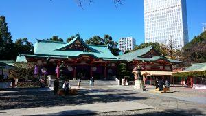 赤坂日枝神社 拝殿前