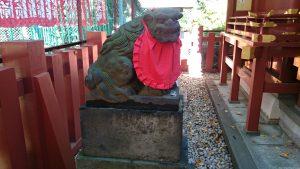 赤坂日枝神社 末社狛犬 (1)