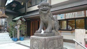 芝大神宮 狛犬阿形