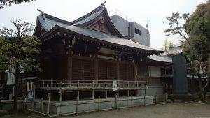 鳩森八幡神社 社殿全景