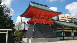 穴八幡宮 平成27年造営鼓楼
