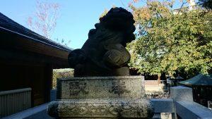 五條天神社 狛犬 (1)