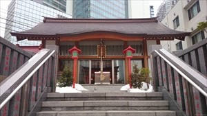 日比谷神社 階段から拝殿