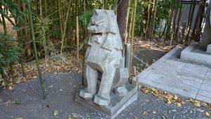 東郷神社 潜水艦殉国碑狛犬 (2)