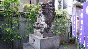 新橋烏森神社 烏森神社 狛犬吽形