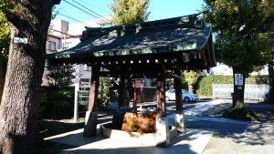麻布氷川神社 手水舎