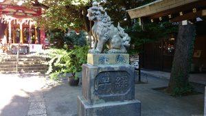 青山熊野神社 狛犬 (2)