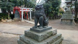鳩森八幡神社 北参道狛犬 吽