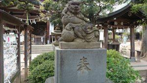 鳩森八幡神社 正面参道狛犬 吽