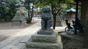 鳩森八幡神社 北参道狛犬 阿