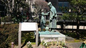 乃木神社 辻占少年の像