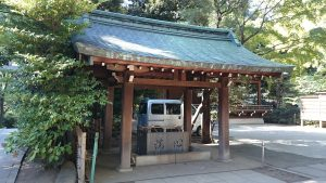 渋谷氷川神社 手水舎