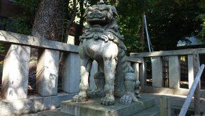 渋谷氷川神社 狛犬 (阿形)
