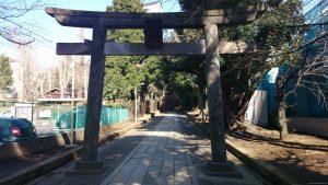 渋谷氷川神社 正面鳥居