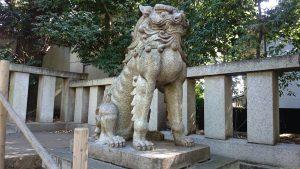 渋谷氷川神社 狛犬 (吽形)