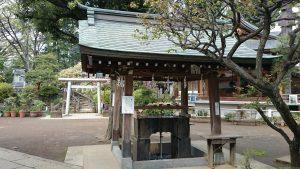 鳩森八幡神社 手水舎