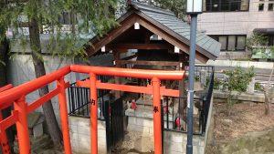 鳩森八幡神社 甲賀稲荷社 全景
