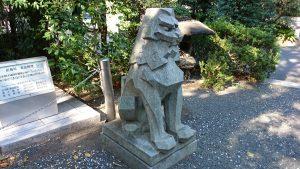 東郷神社 潜水艦殉国碑狛犬 (1)