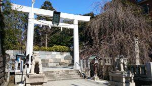 乃木神社 鳥居と社号標