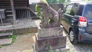 簸川神社 五社神社狛犬 (2)