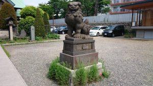 簸川神社 狛犬 阿