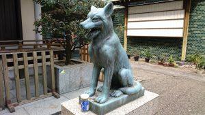 宮益御嶽神社 日本狼狛犬 阿形