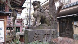 平河天満宮 獅子