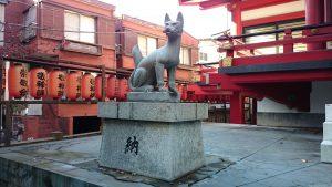 茶ノ木稲荷神社 神狐 (1)