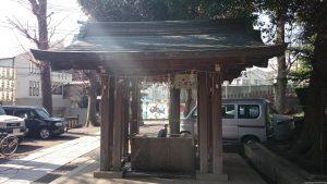 中目黒八幡神社 手水舎