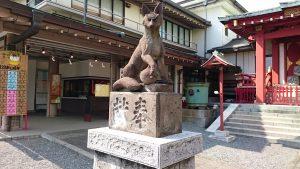 穴守稲荷神社 神使狐 吽