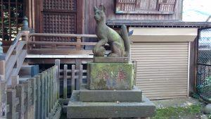 柳森神社 神使狐 吽