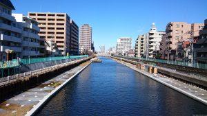亀戸天神社 横十間川