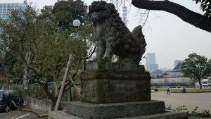 芝東照宮 狛犬 (2)