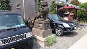 簸川神社 狛犬 吽