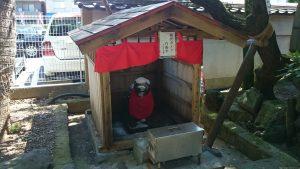 亀戸天神社 おいぬさま(塩漬け狛犬)