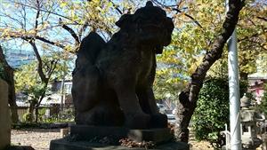 市谷亀岡八幡宮 狛犬吽形