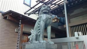 麻布十番稲荷神社 狛犬 (2)