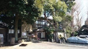 中目黒八幡神社 御神木と社務所