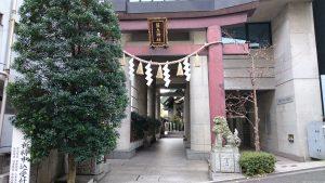 築土神社 鳥居
