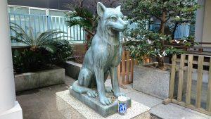 宮益御嶽神社 日本狼狛犬 吽形