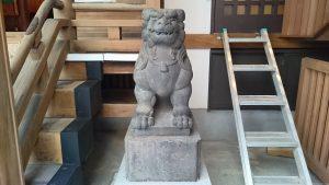 小網神社 昭和4年狛犬 (2)