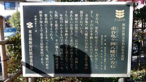 市谷亀岡八幡宮 新宿区指定有形民俗文化財説明