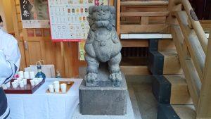 小網神社 昭和4年狛犬 (1)