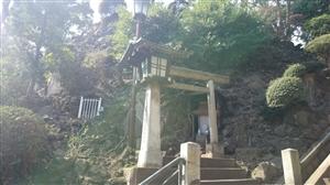 品川神社 富士塚 登拝道