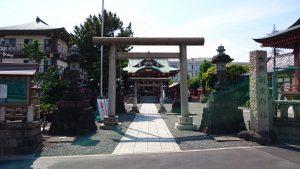 羽田神社 鳥居と社号標