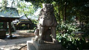 奥澤神社 狛犬 吽