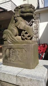 皆中稲荷神社 狛犬 (2)